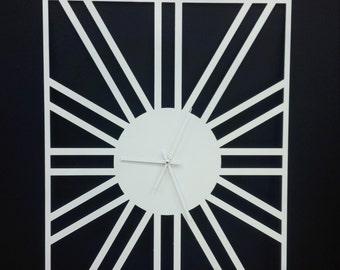White wall clock/square