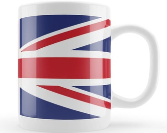 British flag Mug, Britain flag iconic union jack gift, Unique birthday gift for Dad, Brother, Uncle, Grandad, Mum, Friend, Patriot mug, UK