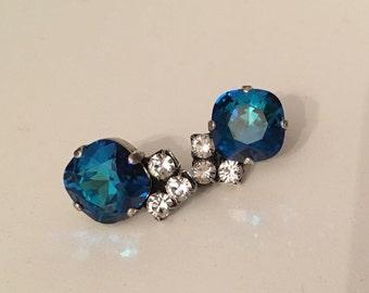 Something Blue Swarovski Crystal Earrings