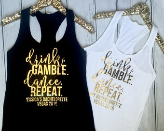 Vegas Tank Top, Bachelorette Tanks, Bachelorette Shirts, Bridesmaid Shirts, Bachelorette Party Tank, Bridal Party Shirts