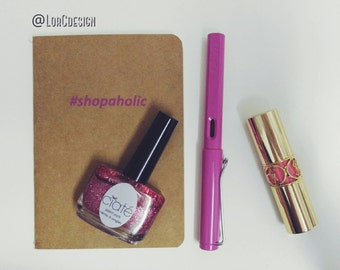A6 notebook for #shopaholic