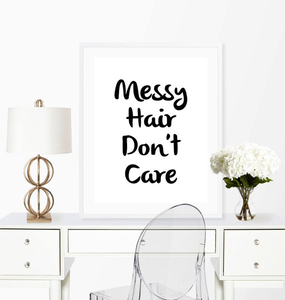 Messy Walls But I Like It: Items Similar To Messy Hair Print, Wall Art Print, Messy