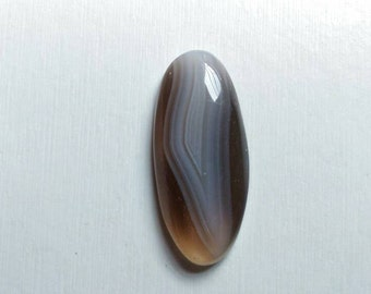 BOTSWANA AGATE Oval shaped Highly Polished Beautiful Gemstone Cabochon.. Removes life's risk... 36.60x16.25x6.80mm... 31.90 cts