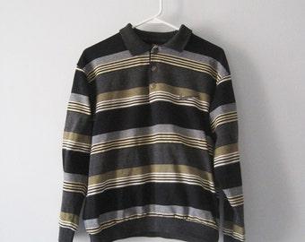 VINTAGE NIKE Cute Striped Sweatshirt Preppy - Size S