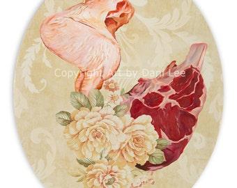 Meat Floral #4- Print