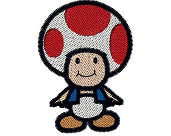 SUPER MARIO TOAD Machine Embroidery Design Instant Download Hoop Size 4x4