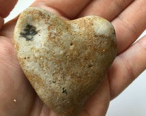 Palm sized heart stone // Natural heart // love token // love talisman // love amulet // love spell // love PDF // Valentines Day