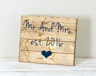 Mr. & Mrs Est. (date)