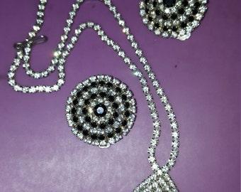 Silver and black N E set