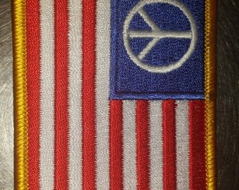 USA United States of America Peace Flag Patch