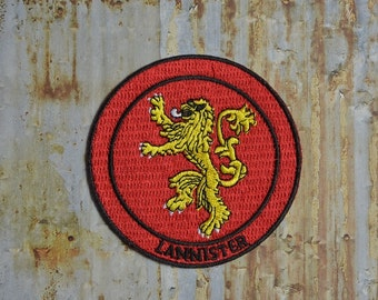 Lannister Game Dragon Fantasy Iron On Sew On Patch Transfer