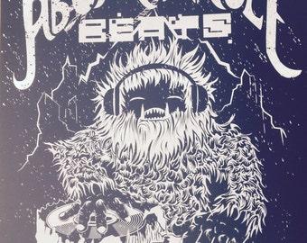 Abominable Beats Screen Print Poster Art