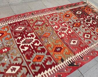 Kilim rug, large kilim, decorative kilim rug, handwoven kilim rug  10x5 ft
