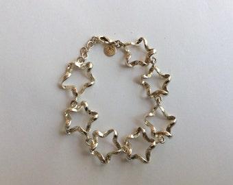 Sterling silver bracelet vintage antique # 842
