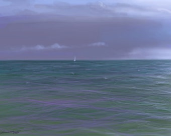 Impressions, Calm after the storm,  Digital Painting, Traditional, Seascape, Marine, Fine Art, Impressions, Movement, Nautical