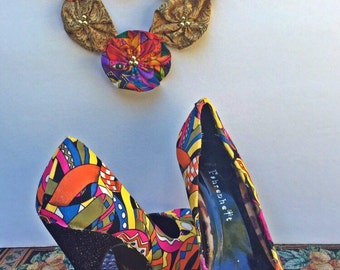 Fabric shoes and jewelry