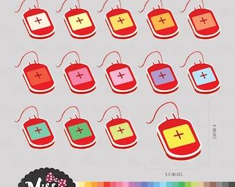 30 Colors Blood Donation Clipart - Instant Download