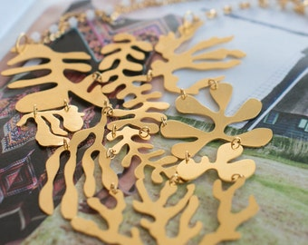 24K Gold Plated pectoral coral reef