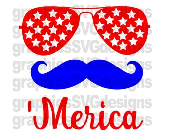 Merica SVG 4th July svg, July 4th svg files,America svg files, 4th of July monogram svg, July 4th svg, svg file, USA svg: Merica Svg File
