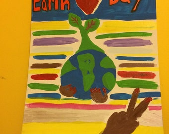 Earth day everyday canvas