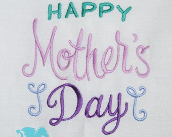 Happy Mother's Day Towel - Gift for Mom - Mother's Day Gift - Flour Sack Towel - Kitchen Towel