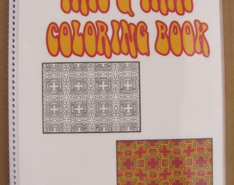 "Adult Coloring Book - High End - This & That - 35 Plates - 8.5"" X 11"" - Coil Bound - Laminated Covers - Hand Drawn"
