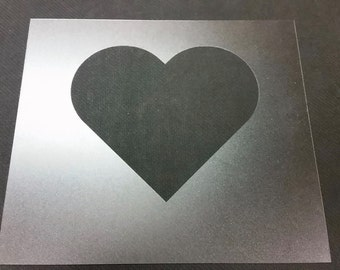 6'' Heart Stencil! Paint, Trace, Draw, Craft!