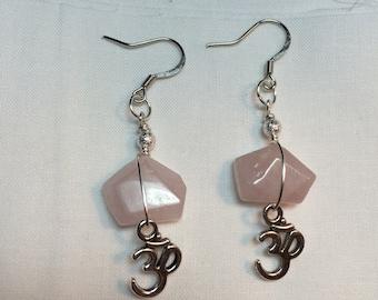 Rose Quartz Ohm earrings