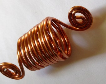 Extra Large Coiled Dredlock Bead