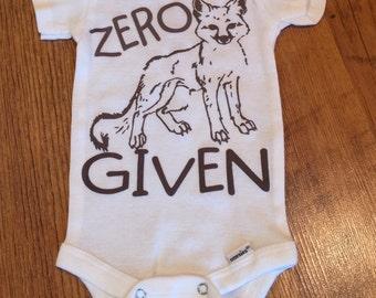 Zero Fox Given Onesie