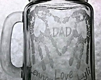 Dad~Heart Handprints