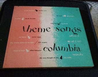 Columbia Records Theme Songs Vintage Vinyl Record Album