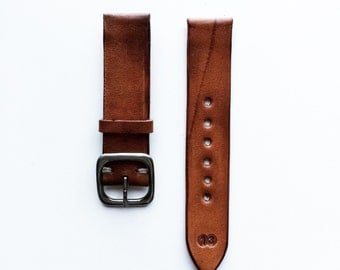 Pre oiled Vegetable Tanned Leather Watch Strap