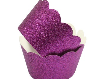 Cupcake Wrappers Purple Cup Cake Decorating Supply Mini Standard Jumbo