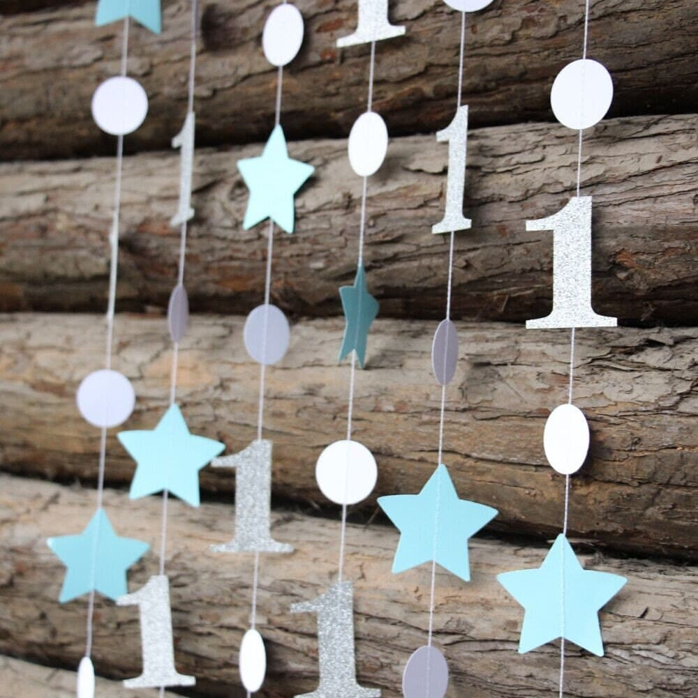 Blue And Silver Birthday Decorations Star By Parmaydecoration