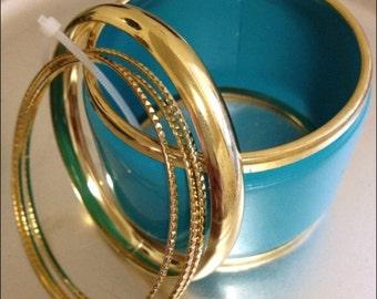Modern Bangle Bracelet - Teal
