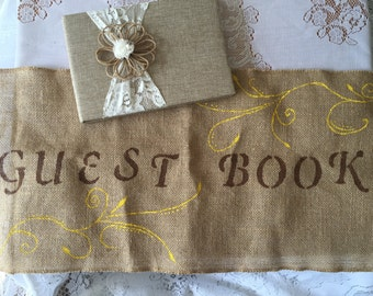 Guest book banner / sign / burlap