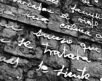 A few words on a wall...