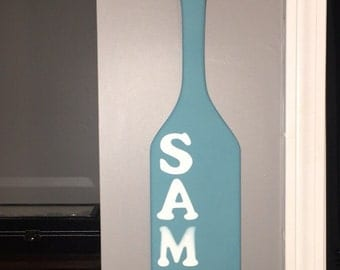 Personalized Oar- Great for baby's rooms! Or any other room with personalization