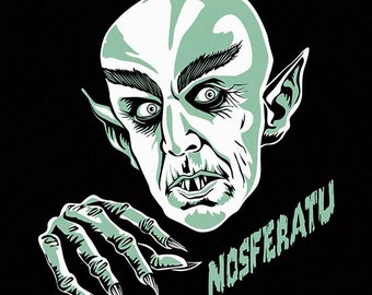 Nosferatu, vampiro, Digital Print, Instant Download, Printable Illustration, 11x14 inches, Monster, Terror movies, Monsters films, poster