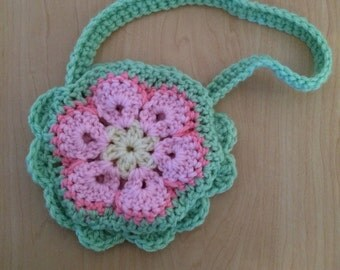 Little Girls Flower Purse