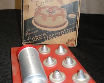 Vintage Aluminum Cake Decorator