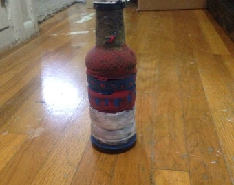 Black painted water bottle