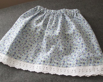 Floral skirt for toddler 2-3 years old
