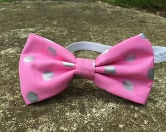 Pink Polka Dots Bowtie