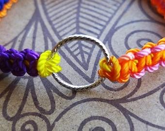 Sparkling Ring Bracelet on Adjustable Nylon Thread