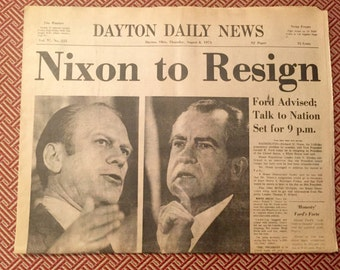 Nixon Resigns Dayton Daily News 1974