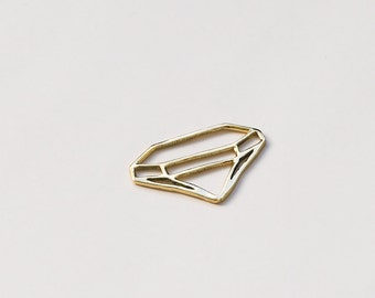 Geometric necklace, diamond shape necklace, diamond shape pendant, Brass necklace, triangle necklace, unique necklace, gift for her