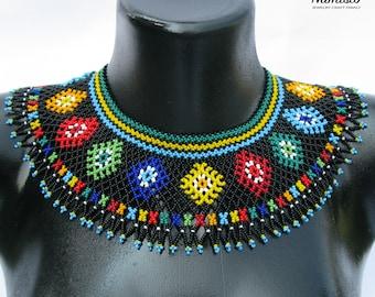 Beaded Necklace Bead Necklace Ukrainian Folk Boho Gipsy Jewelry Handmade Gift Costume Jewelry Vyshyvanka Gerdan Statement - Palette Bolero