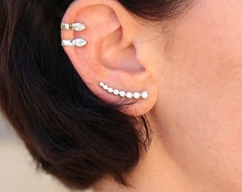 SISTERS - Ear Cuffs, Silver 925 earrings earrings